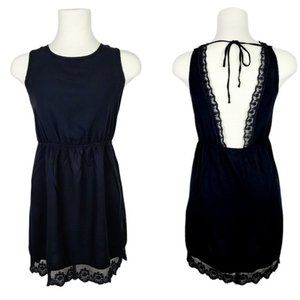 4/$30 Garage Black Open Back Dress with Lace XS